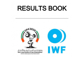 Result Book of 2020 West Asian Weightlifting Championships,  ...